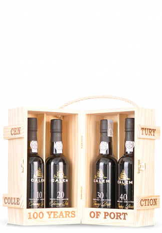 Vin Calem Century Collection, Porto 10 Years, 20 Years, 30 Years & 40 Years (4 x 0.375L) Image