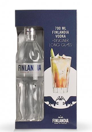 Gift Box Vodka Finlandia + Designer Long Glass (0.7L) Image