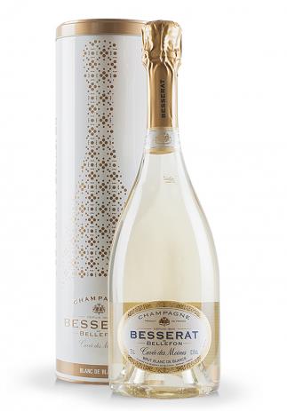 Champagne Besserat de Bellefon, Cuvée des Moines, Brut Blanc de Blancs + Cutie Cadou (0.75L) (32, SAMPANIE BRUT FRANTA CUTIE CADOU)