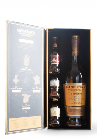 Whisky Glenmorangie Single Malt, Discovery Pack + GB (750+3x50ml) Image
